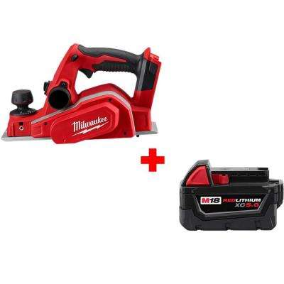 M18 18-Volt 3-1/4 in  Lithium-Ion Cordless Planer with Free M18 5 0 Ah  Battery