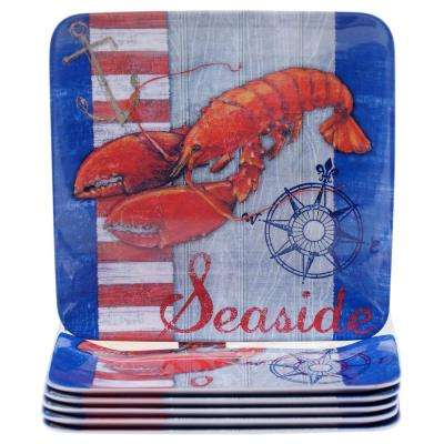 Maritime Lobster Salad and Dessert Plate (Set of 6)