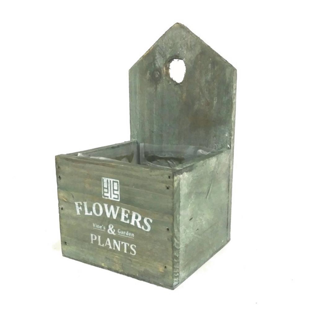 Vintage Wooden Cedar Flower Pot Succulent Planter