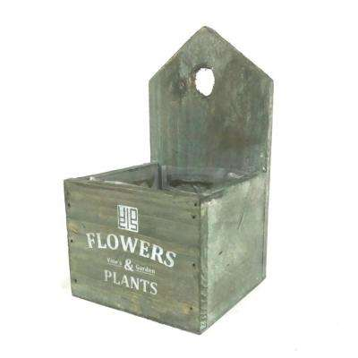 Vintage Wooden Cedar Flower Pot Succulent Planter