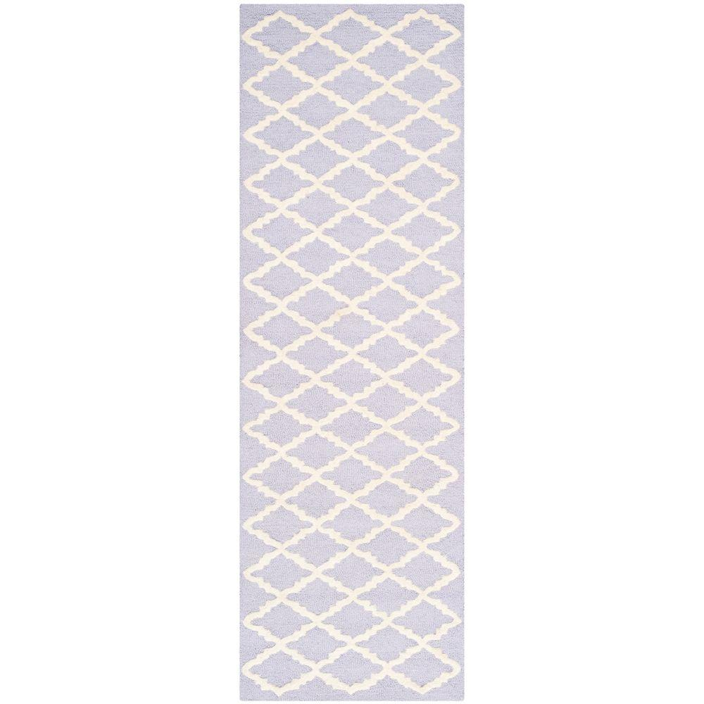 Cambridge Lavender/Ivory 2 ft. 6 in. x 8 ft. Runner