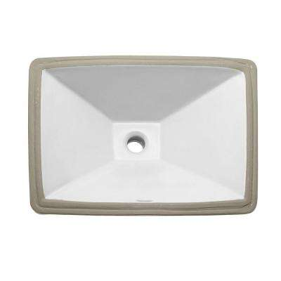 Classically Redefined Undermount Vitreous China Bathroom Sink in White
