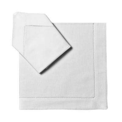 Classic Hemstitch 21 in. x 21 in. Dinner Napkins (Set of 6)