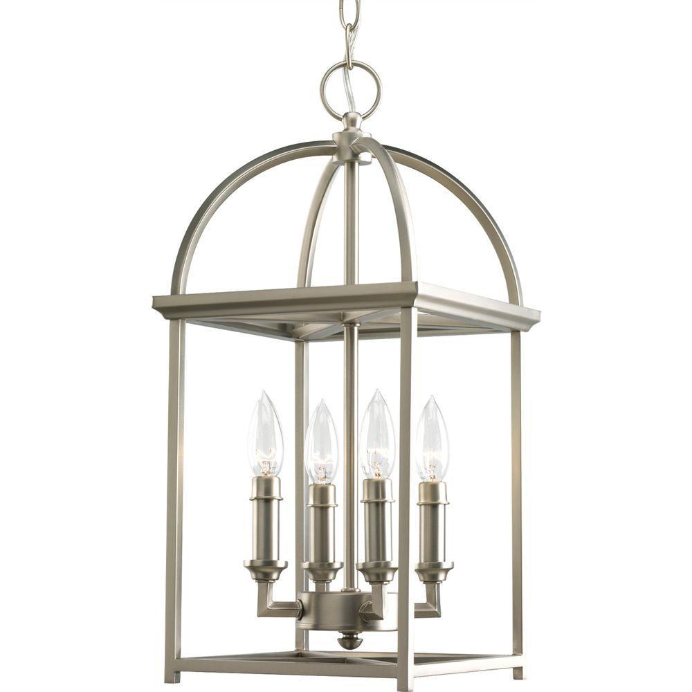 interior lantern lighting. Progress Lighting Piedmont Collection 4-Light Burnished Silver Foyer Pendant Interior Lantern