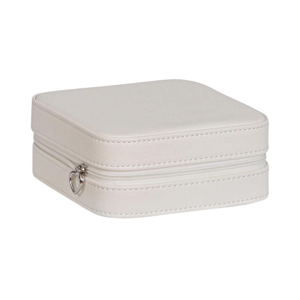 Mele Dana Ivory Faux Leather Jewelry Box0067130 The Home Depot