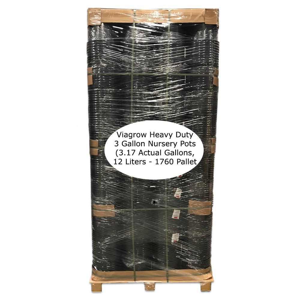 3 Gal Heavy Duty Plastic Nursery Pots 1760 Per Pallet