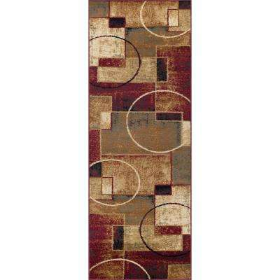 Festival Multi 3 ft. x 7 ft. Contemporary Runner Rug