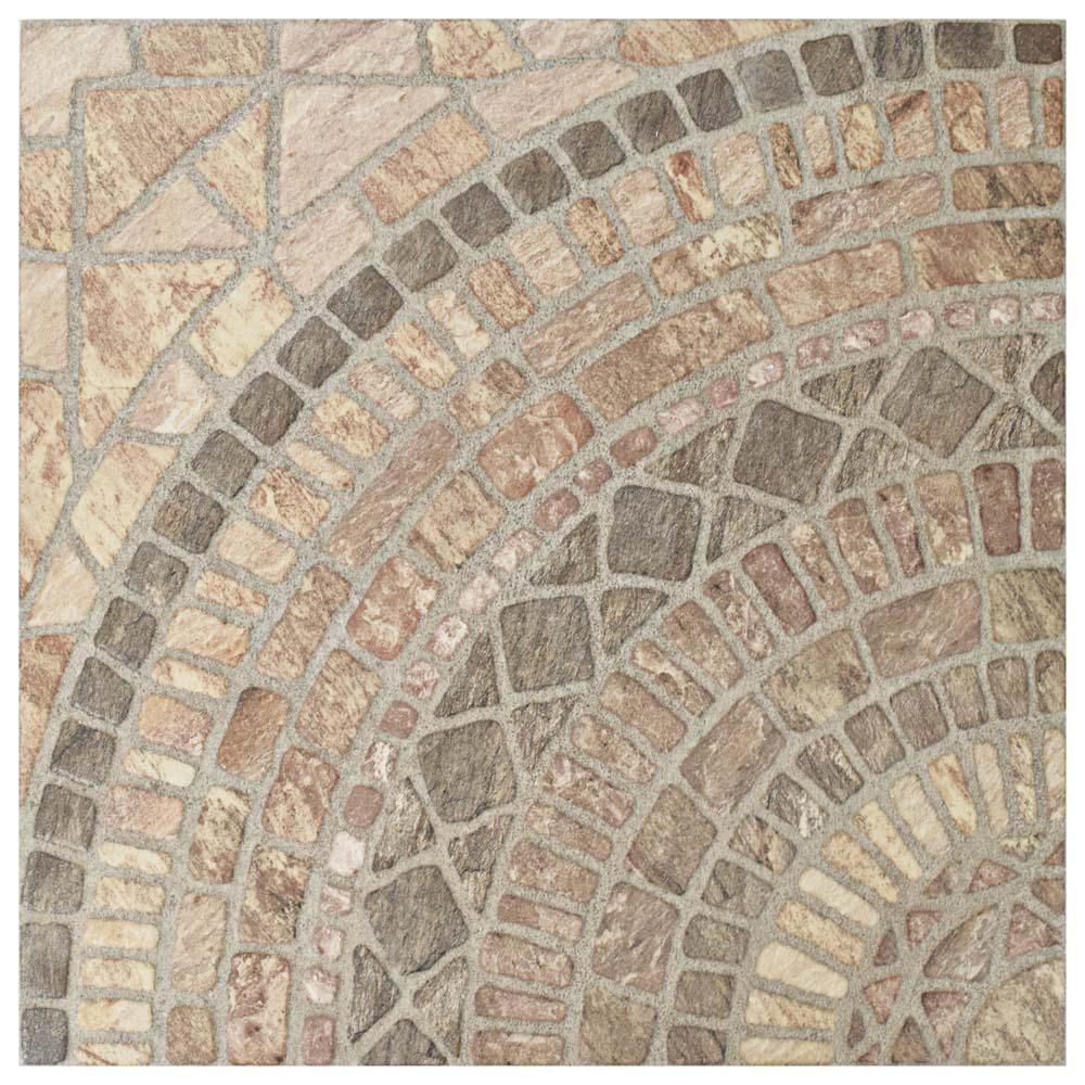 Merola Tile Terra Beige 17-3/4 In. X 17-3/4 In. Ceramic