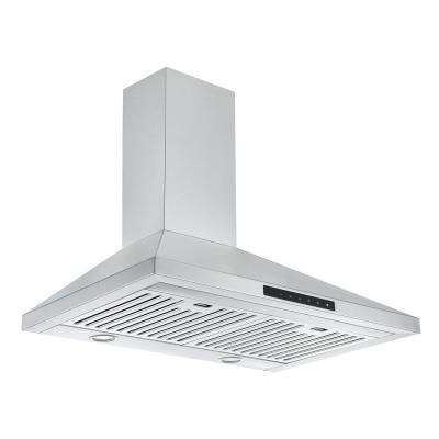 WPNL630 30 in. Convertible Wall Mounted Range Hood in Stainless Steel with Night Light Feature