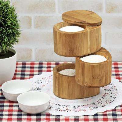 DaPur 3-Tier Natural Bamboo Spice Can