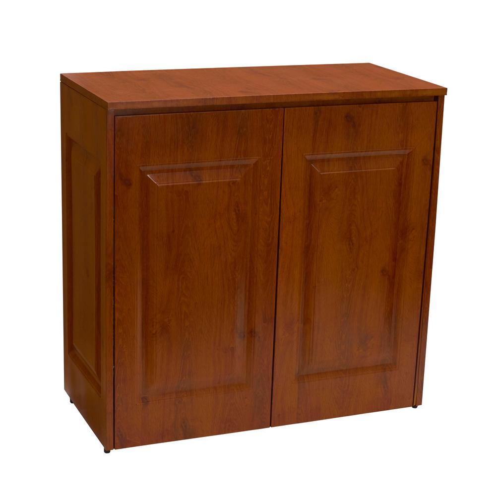 Brown Tilt Out Hamper with Cabinet Storage