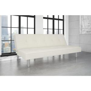 DHP White Nola Twin/Double Size Futon by DHP