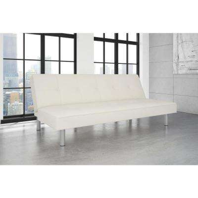 Nina White Futon Sofa Bed