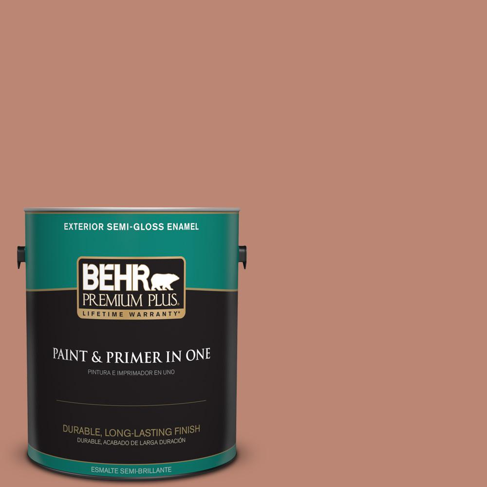 1 gal. #PPU2-09 Ginger Rose Semi-Gloss Enamel Exterior Paint