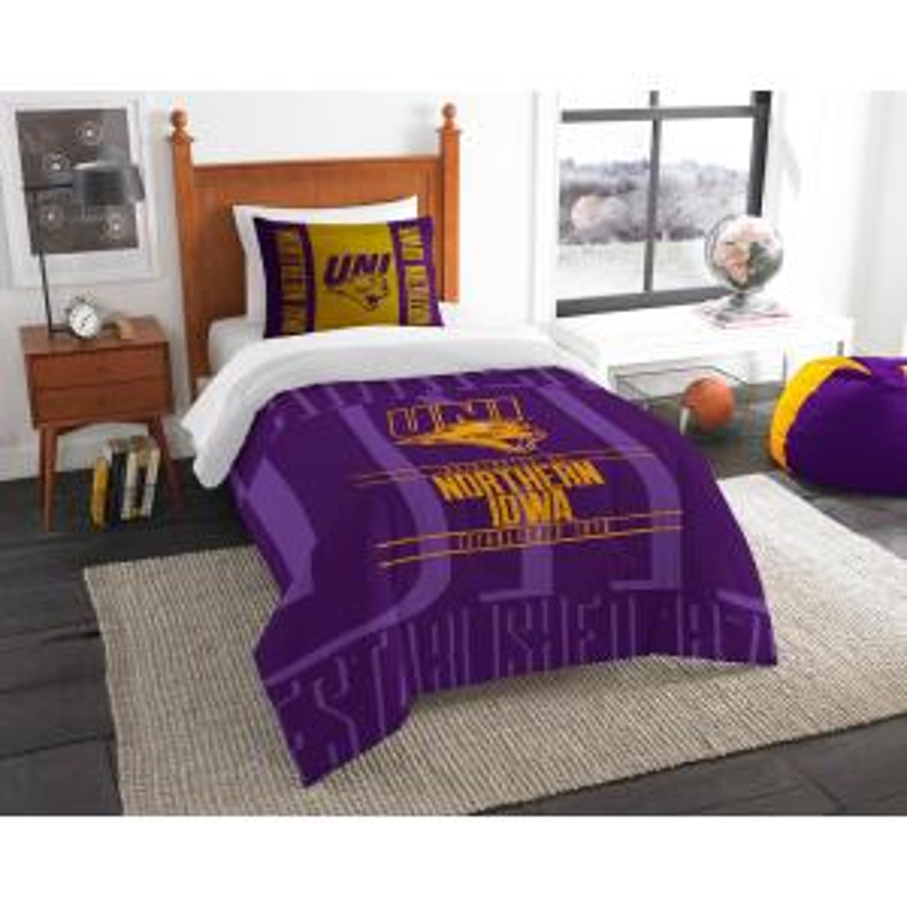 Northern Iowa 2-Piece Modern Take Multi Twin Comforter Set by