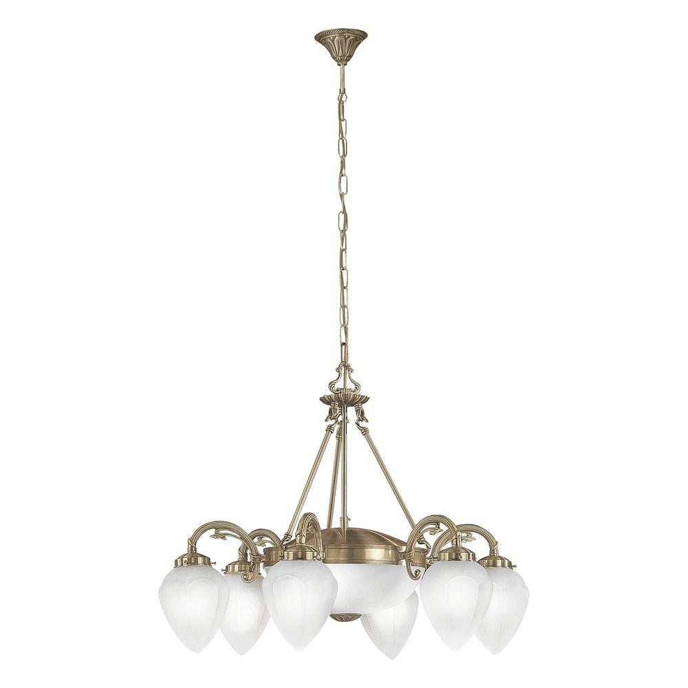 Eglo Imperial 8-Light Ceiling Mount Burnished Brass Chandelier