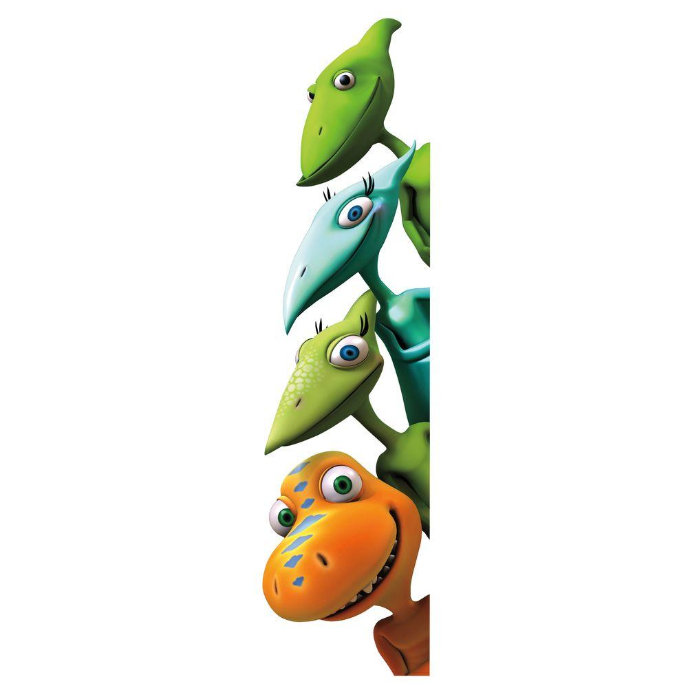 null 18 in. x 40 in. Dinosaur Train 18-Piece Peel and Stick Giant Wall Decals