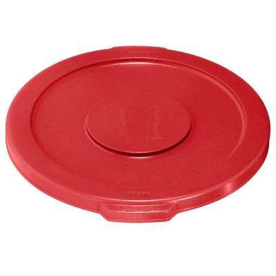 Brute 10 Gal. Red Round Trash Can Lid (6-Pack)