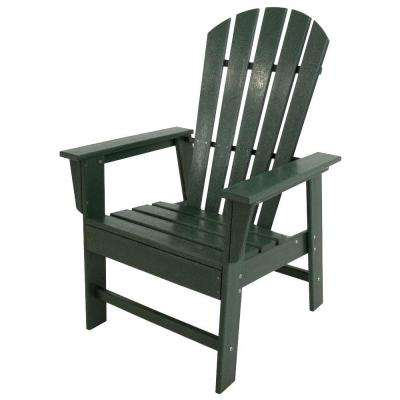 South Beach Green All-Weather Plastic Outdoor Dining Chair