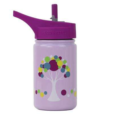 13 oz. Scout Kids Bottle with Straw Top - Pink with Tree