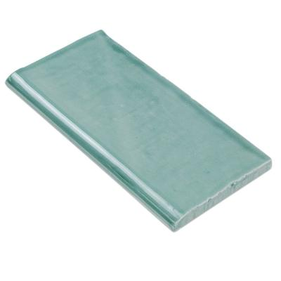 Catalina Green Lake 3 in. x 6 in. Polished Ceramic Wall Bullnose Tile