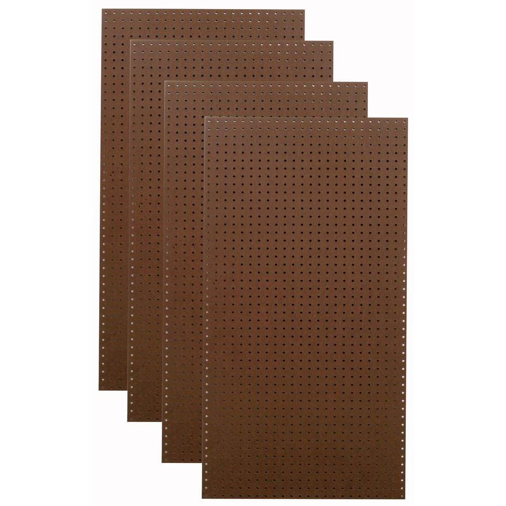 Triton 1/4 in. x 1/8 in. Heavy Duty Brown Pegboard Wall Organizer (Set of 4)