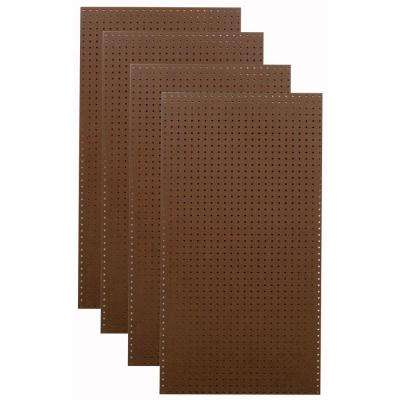 1/4 in. x 1/8 in. Heavy Duty Brown Pegboard Wall Organizer (Set of 4)