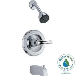 Classic 1 Handle Tub and Shower Faucet Trim Kit in Chrome  Valve Not  IncludedDelta Classic Single Handle 1 Spray Tub and Shower Faucet in  . Shower Tub Faucet Reviews. Home Design Ideas