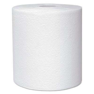 White Hard Roll Paper Towels (6 Rolls/Carton)