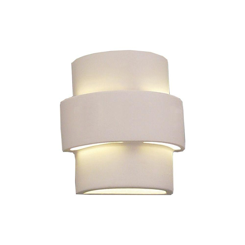 Clifton 1-Light Outdoor Paintable Bisque Ceramic Wall Sconce