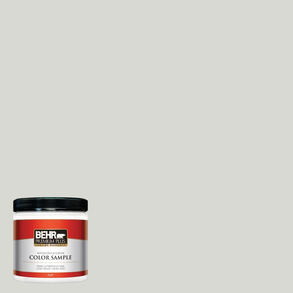 8 oz. #N360-1 Seagull Gray Flat Zero VOC Interior/Exterior Paint and