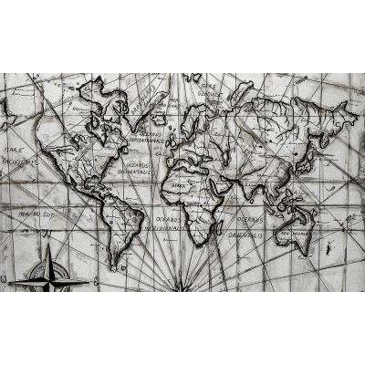 "36 in. x 60 in. ""Navigation"" by Jade Printed and Painted Canvas Wall Art"