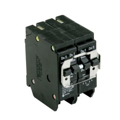BR 1-20 Amp 2 Pole and 1-50 Amp 2 Pole  BQ (Independent Trip) Quad Circuit Breaker