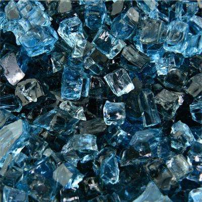 10 lbs. of Kenai Blue 1/4 in. Blended Fire Glass