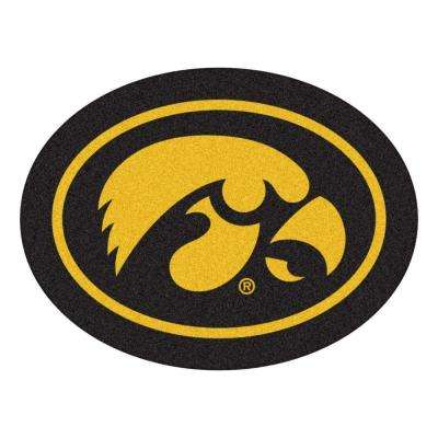 NCAA University of Iowa Gold 3 ft. x 4 ft. Specialty Area Rug