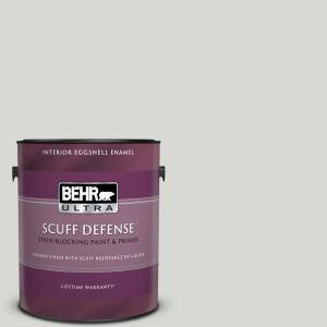 Behr Ultra 1 Gal Icc 23 Silver Tradition Extra Durable Eggshell Enamel Interior Paint Primer 275001 The Home Depot