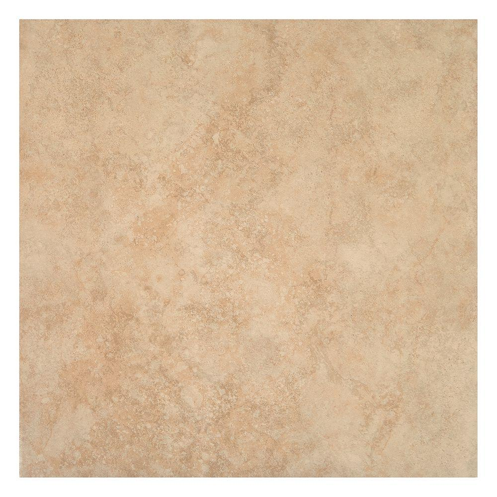 TrafficMASTER Island Sand Beige 16 in. x 16 in. Ceramic Floor and ...