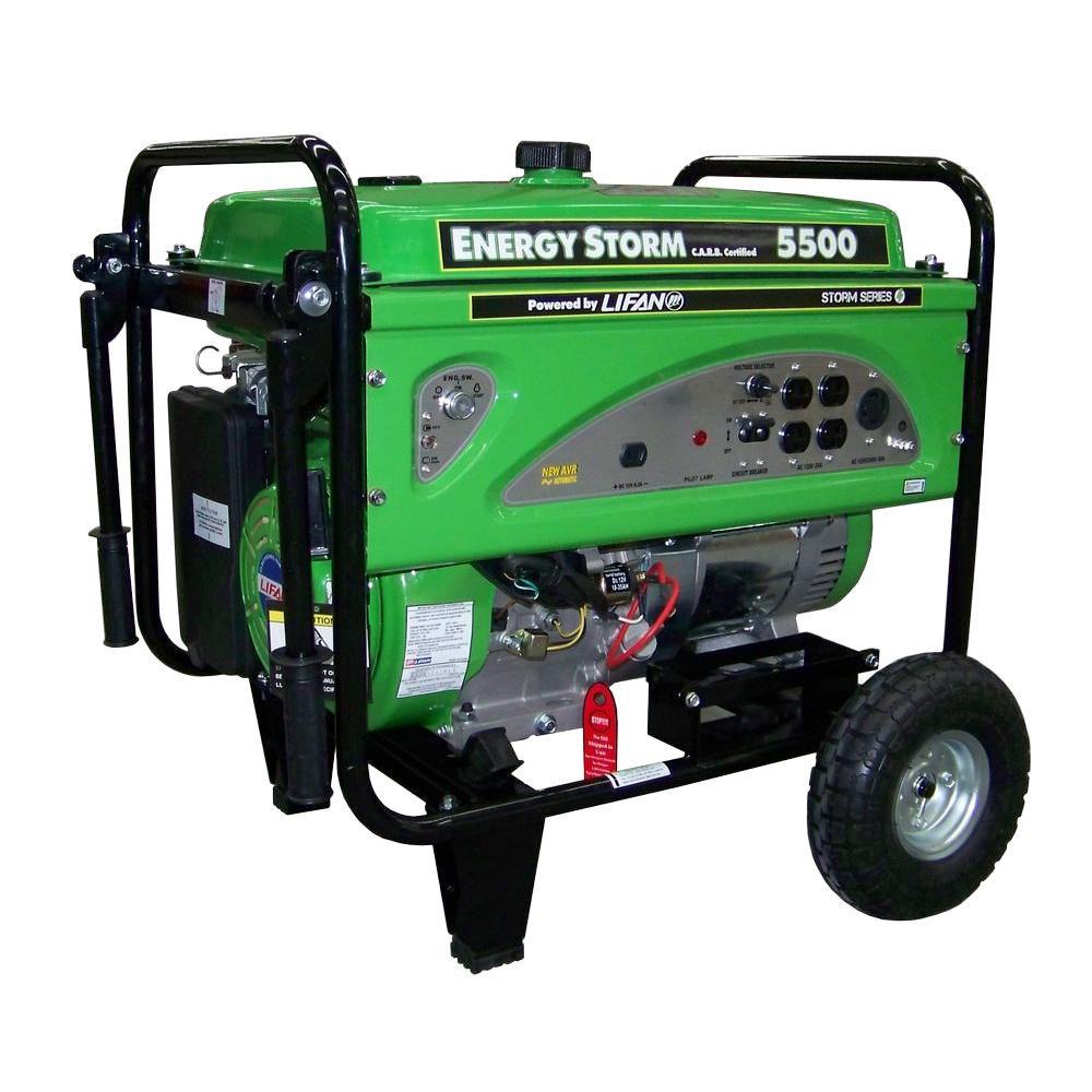 LIFAN 5,600-Watt Energy Storm 337cc Gasoline Powered Portable Generator, California Legal