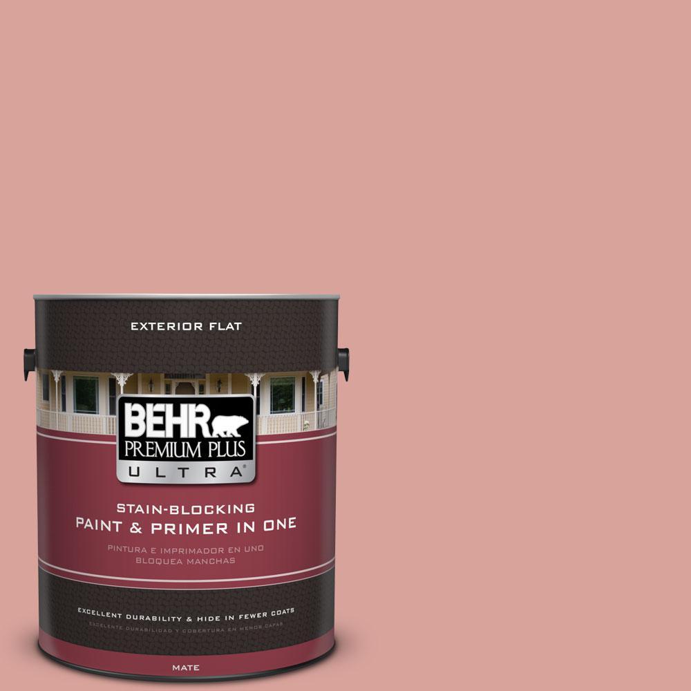 BEHR Premium Plus Ultra 1-gal. #pmd-70 Cottage Rose Flat Exterior Paint, Oranges/Peaches