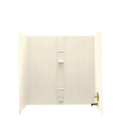 30 in. x 60 in. x 60 in. 5-Piece Easy Up Adhesive Tub Wall in Pebble