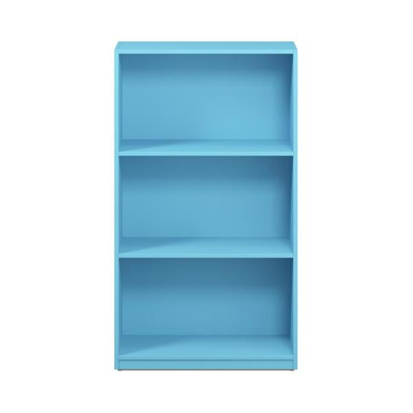Furinno Basic 3-Shelf Light Blue Open Bookcase 99736LBL