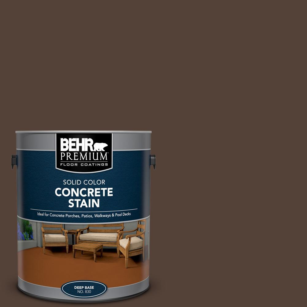 1 gal. #PFC-25 Dark Walnut Solid Color Flat Interior/Exterior Concrete Stain