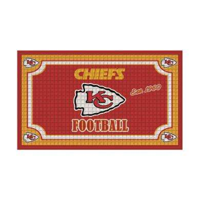 Kansas City Chiefs 18 in. x 30 in. Embossed Welcome Mat