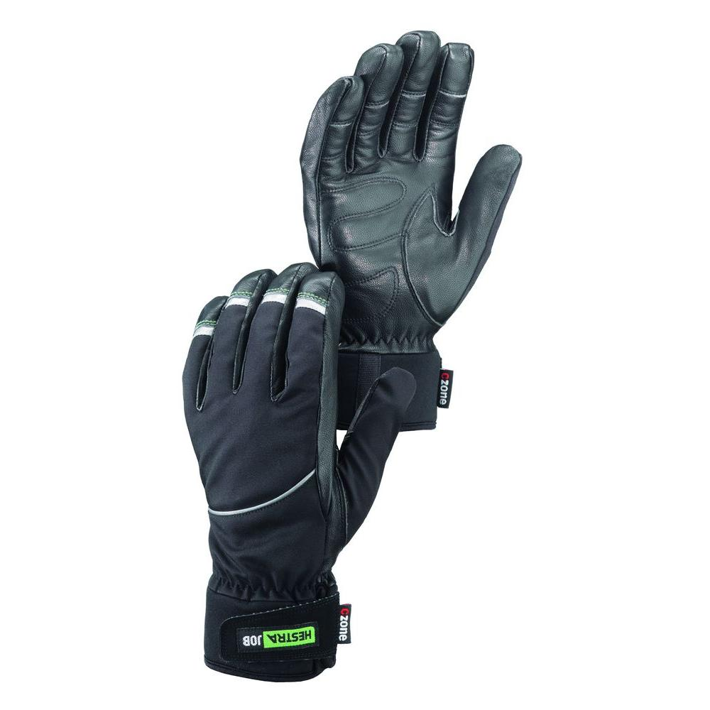 Hestra JOB Protak Czone Size 10 X-Large Cold Weather Insulated Goatskin Glove in Black