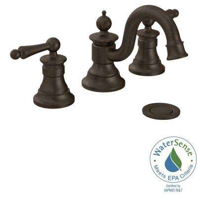 Waterhill 8 in. Widespread 2-Handle High-Arc Bathroom Faucet Trim Kit in Oil Rubbed Bronze (Valve Not Included)