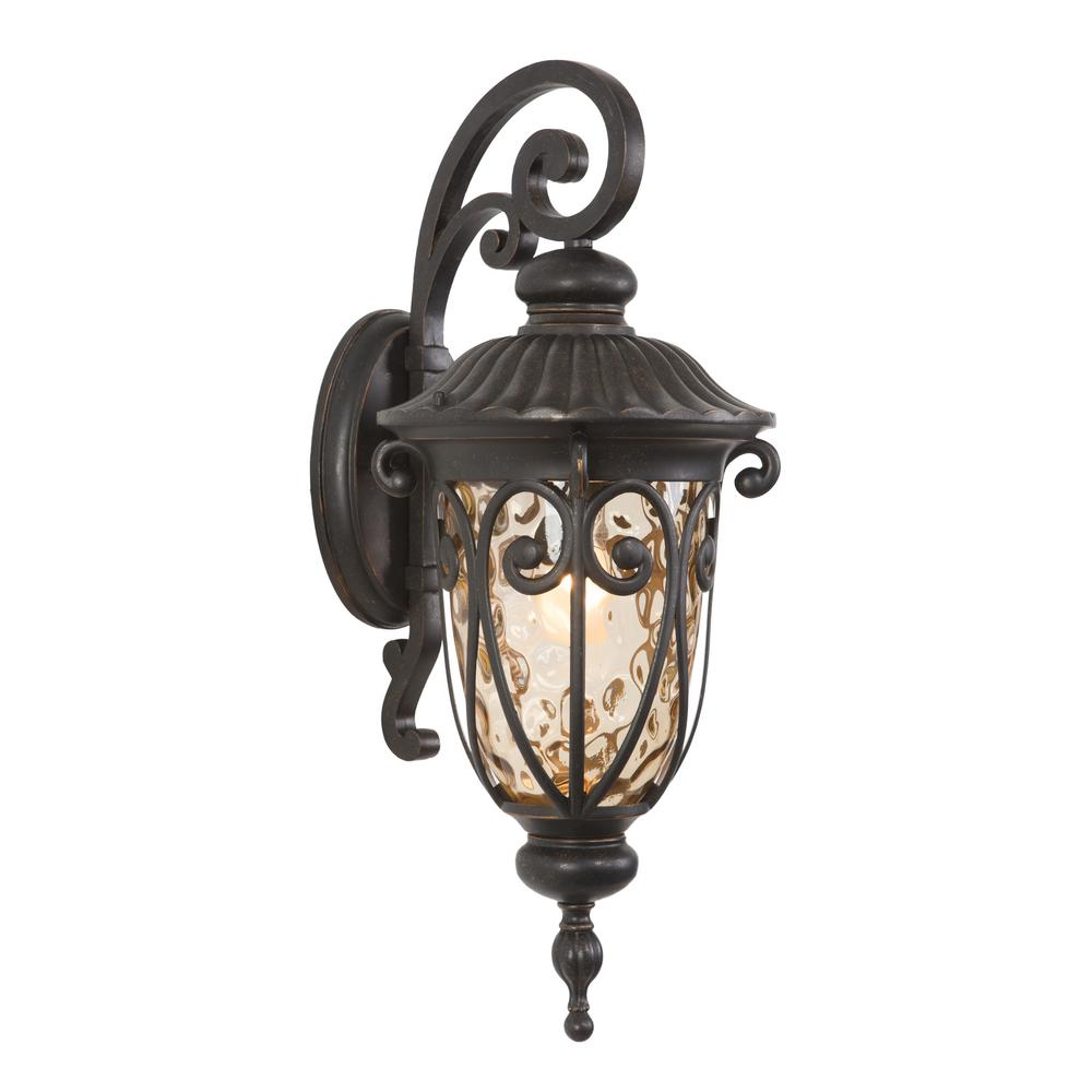 Yosemite Home Decor Viviana Collection 1-Light Oil Rubbed Bronze Outdoor Wall-Mount Lamp
