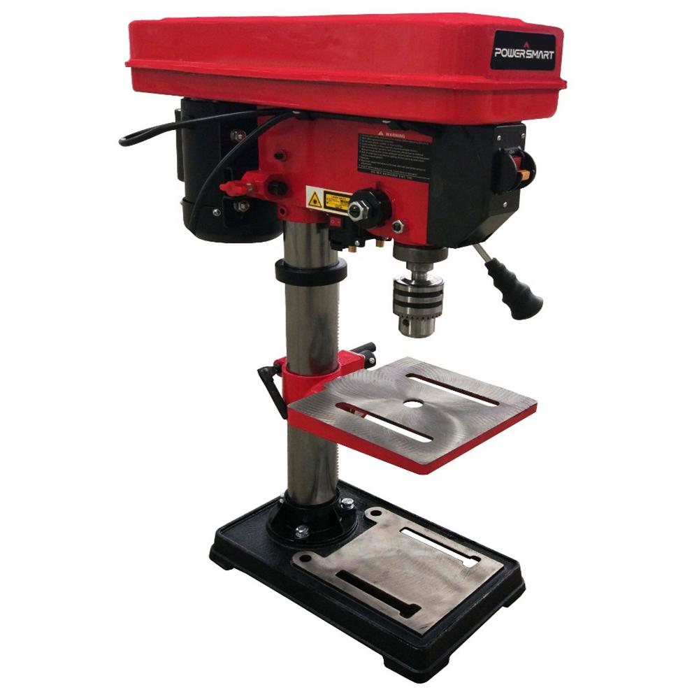 Powersmart 10 In 12 Speed Drill Press With Laser Guide