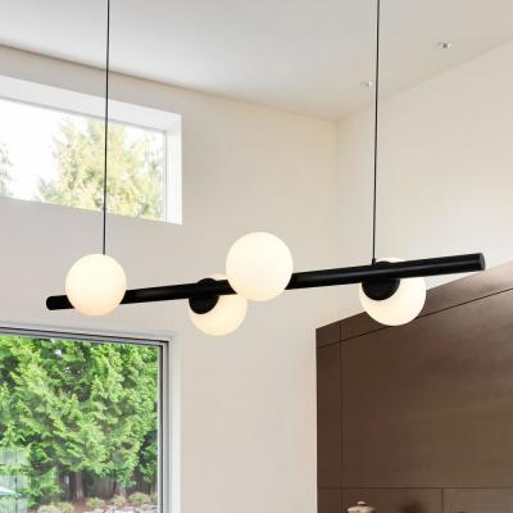 Capri 40-Watt Black Integrated LED Chandelier