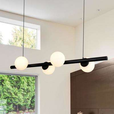 Capri 40-Watt Black Integrated LED Chandelier
