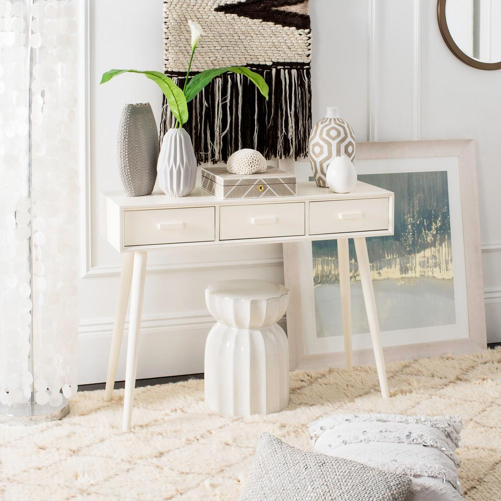 Distressed white console table Beachy Safavieh Albus Distressed White Console Table 3drawer Amazoncom Safavieh Albus Distressed White Console Table 3drawercns5701a